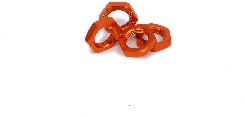 4Pcs M17 17Mm Wheel Hex Hub Nut Inner Diameter M12 Thread 1Mm For 1//8 Rc Car Hsp