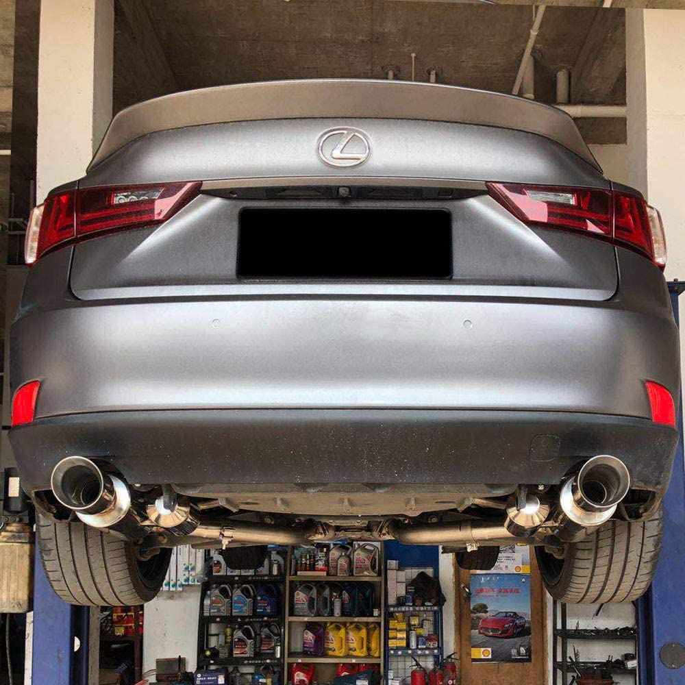 Rev9 CB-024 FlowMAXX Axle-Back Stainless Steel Exhaust System 4 Dbl-Wall Tip XE30 Round Cut 2014-17 60mm Pipe compatible With Lexus IS