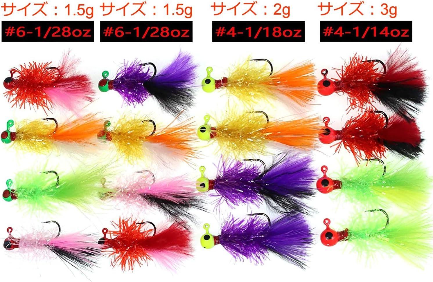 With NITRO Gems Premium Marabou Jigs 1//8 oz Fishing Crappie Jigs1 Pack Of 10