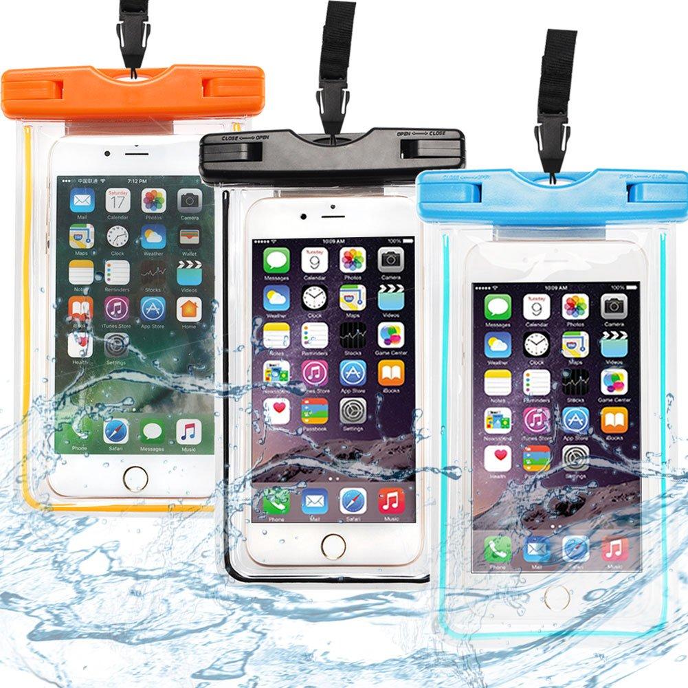 Caselover 3X Funda Móvil Impermeable, Bolso Sumergible Waterproof Case Transparente Universal para Huawei p9 p8, Bq, LG, Xiaomi para Todo Smartphone y ...