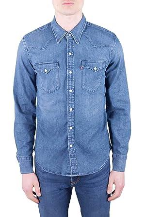 e750a833d3e Levi's Men's Barstow Western Denim Shirt, Black (Bruised Indigo Mid 0318),  ...