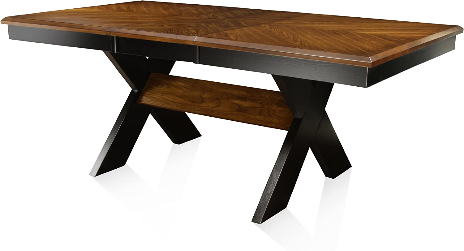 Furniture of America IDF-3776T Harvest Dining Table, Brown