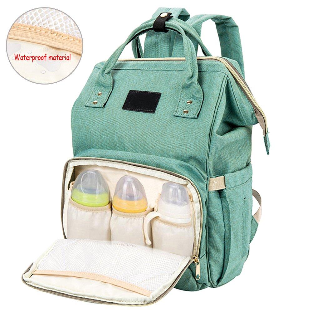 Baby Diaper Backpack Bag Unisex Nappy Changing Bag Multi-function Travel Backpacks Waterproof Rucksack Dad Mummy Large Capacity Canvas (black) ZhongYeYuanDianZiKeJi