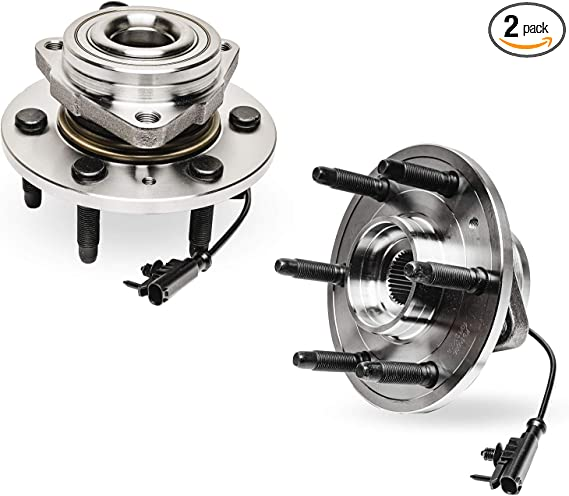 Pair Front Wheel Hub Bearing For Chevy Silverado Tahoe Escalade 4WD 14-16 1372