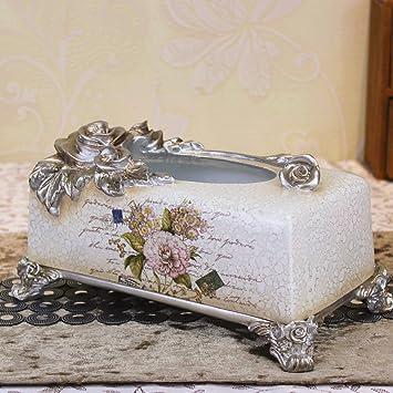 GDS Tamaño King Caja de Creative Home - Toalla de papel Tissue bombeo Resina pintado a mano manualidades: Amazon.es: Hogar