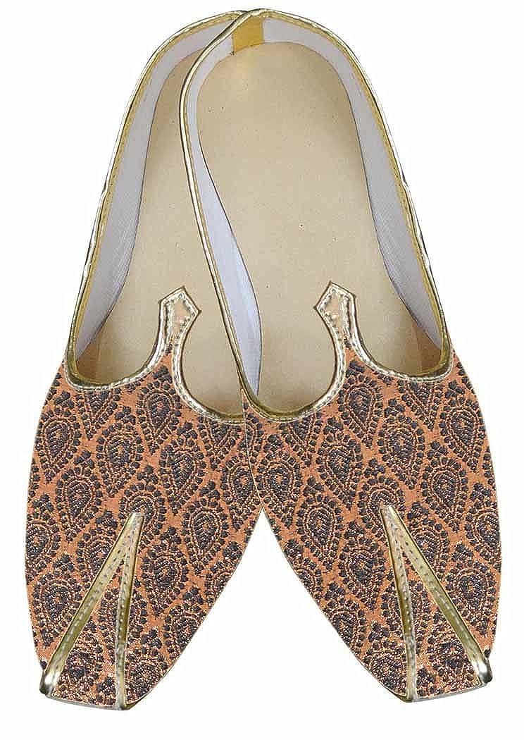 INMONARCH Hombres fabulosos Zapatos de Diseñador de Cobre MJ0051 38 EU