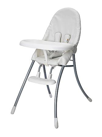 Beau Bloom Nano Urban High Chair, White Frame With Seat Pad Coconut White