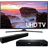 "Samsung UN50MU6300 50"" 4K Ultra HD Smart LED TV (2017 Model) with HDMI 1080p High Definition DVD Player and Solo X3 Bluetooth Sound Bar Bundle"