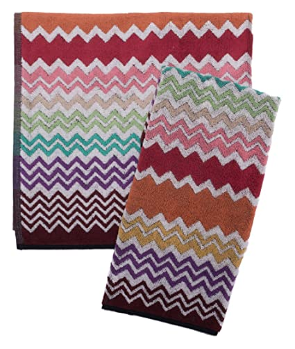 Missoni Home Juego Toallas Baño 1 + 1 Rufus Multicolor