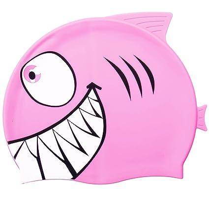 136bb1743d2b Tintec nuoto, bambini silicone Swimminng cappello per bambini a forma di  animale pesce nuoto: Amazon.it: Sport e tempo libero