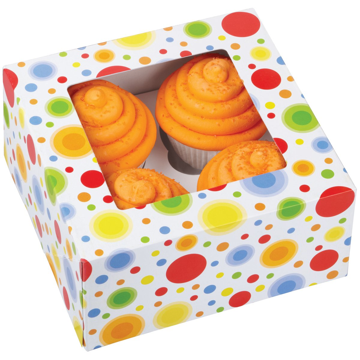 Amazon.com: Wilton 415-0735 3/Pack 4-Cavity Circles Cupcake Box: Scrapbooking Supplies: Kitchen & Dining