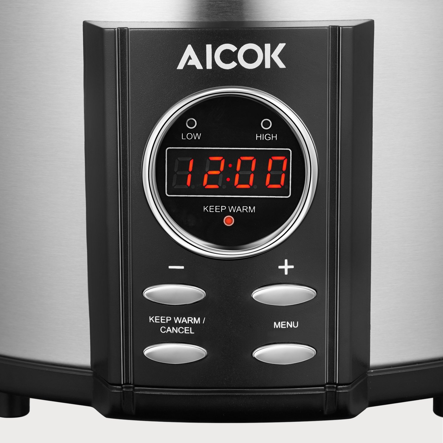 aicok slow cooker multi cookers ceramic pot with digital countdown rh amazon co uk