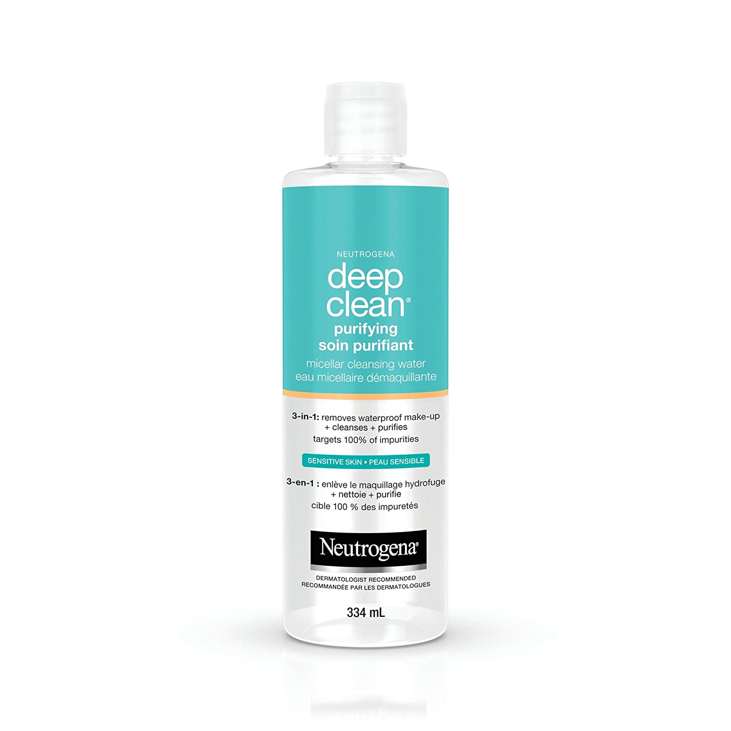 Neutrogena Micellar Water, Deep Clean Purifying Cleanser and Makeup Remover, 334 mL Johnson & Johnson