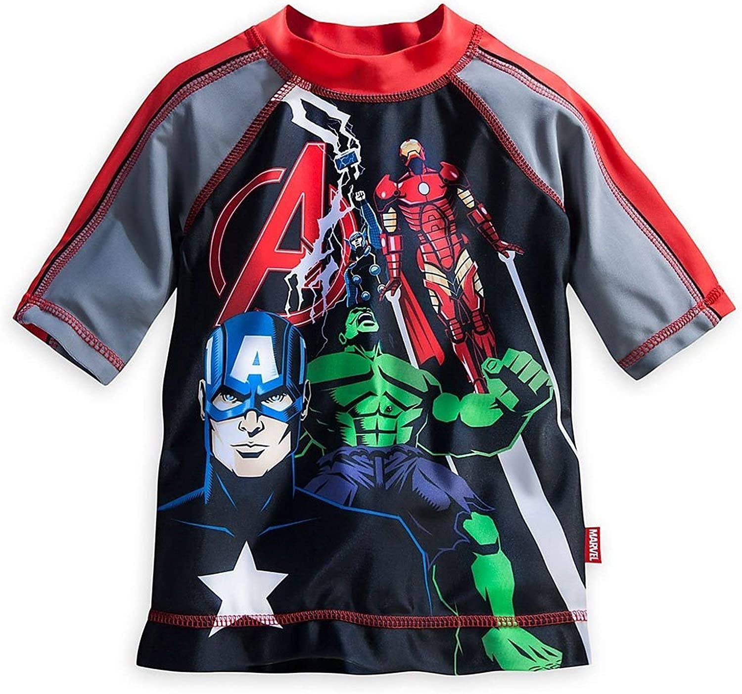 Marvel Avengers Rash Guard for Boys