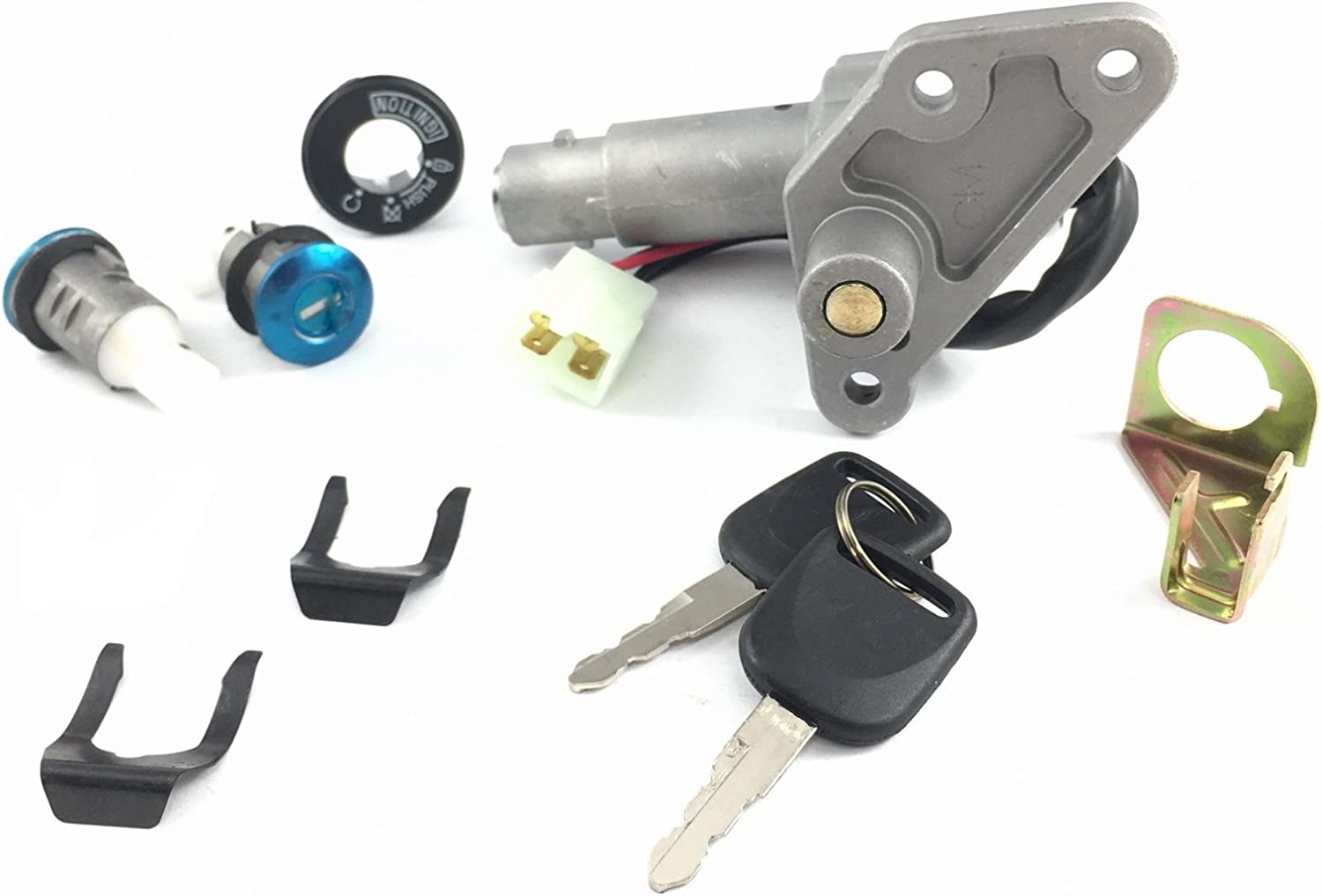 KEY IGNITION LOCK SET For CHINESE SCOOTER GY6 4STROKE 50-150cc PEACE TAOTAO BMS