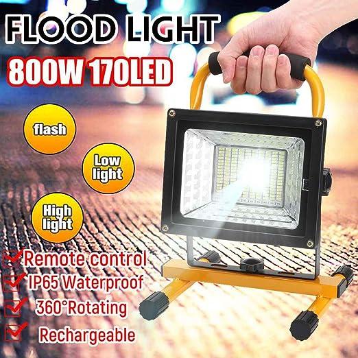 FNHGNG Foco LED Recargable Mano portátiles LED Proyector de ...
