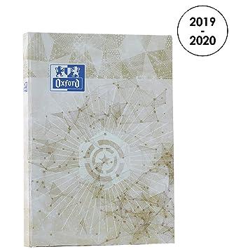 Oxford 100735619 Metal agenda escolar (años 2018 – 2019 1 día página, 15 x 21 cm, champán