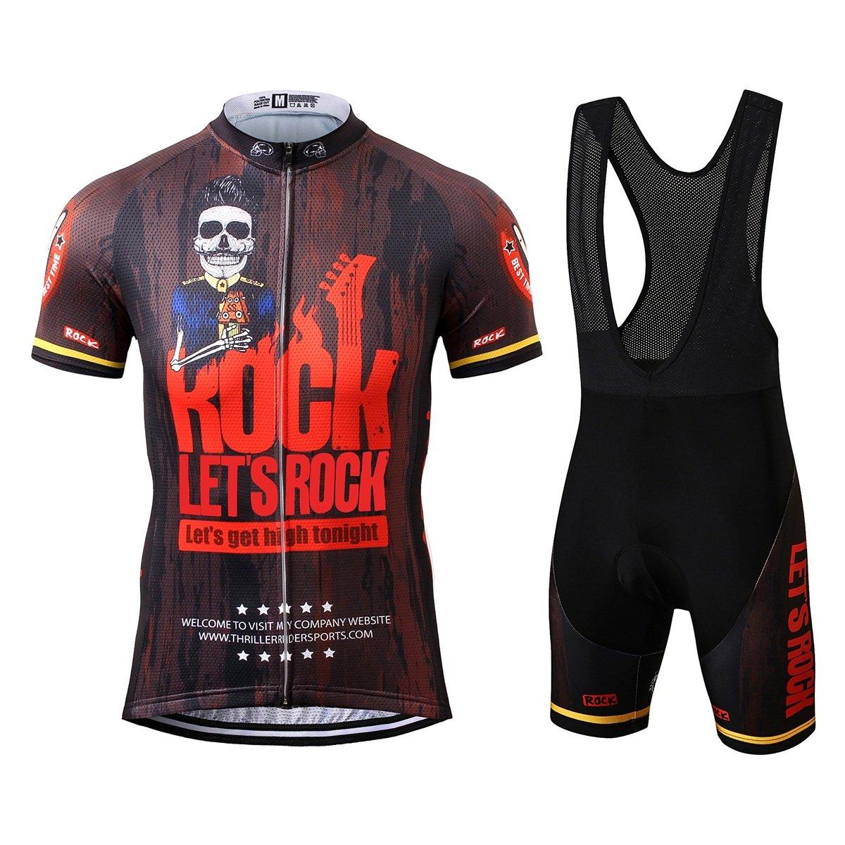 Thriller Rider Sports® Uomo Let's Rock Sport e Tempo Libero Abbigliamento Ciclismo Magliette Manica Corta Sports Thriller Rider
