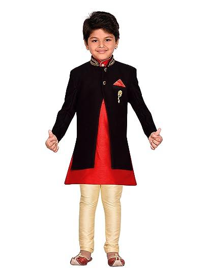 9c7bbcfc4 AJ Dezines Kids Indian Wear Bollywood Style Sherwani for Boys: Amazon.co.uk:  Clothing