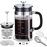 French Stainless Steel Press Coffee Maker (Silver )