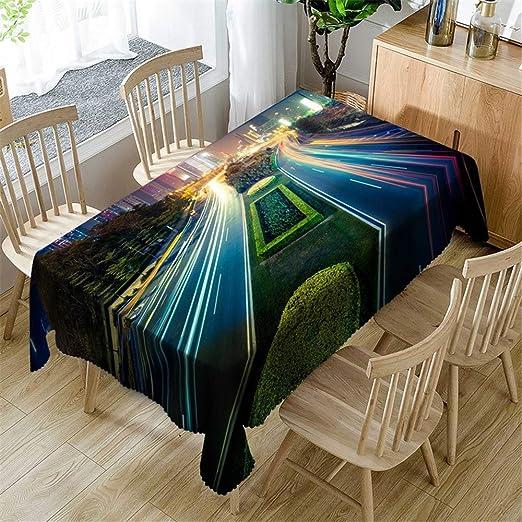 FMM mantel impermeable mantel rectangular algodón y lino estilo pastoral impresión mesa de café restaurante restaurante boda boda picnic playa mantelC 153 * 214CM: Amazon.es: Amazon.es