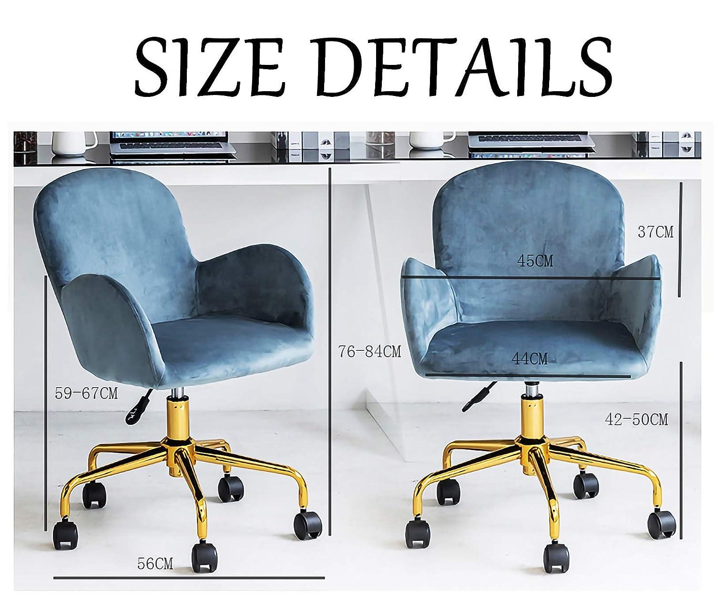 LYJBD svängbar stol justerbar kontorsstol ergonomisk kontorsstol tjock sittdyna för verkställande, formning, spel eller kontor gRÖN