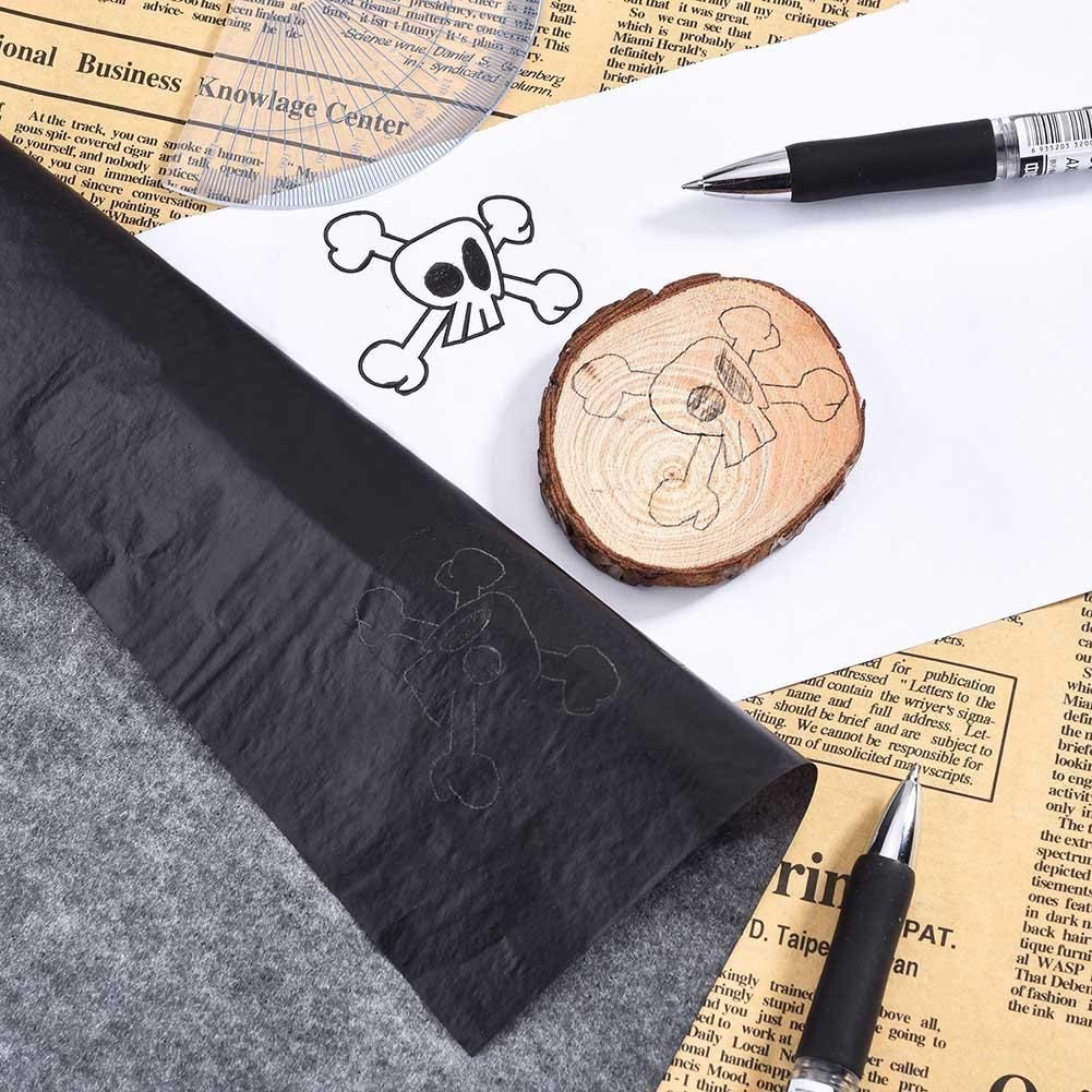 - Includes 3 Embossing Stylus Dotting Tools for Wood 200 Sheets Carbon Paper 8.5 x 11.5 inch Canvas Paper - Black Graphite Carbon Transfer Tracing Paper