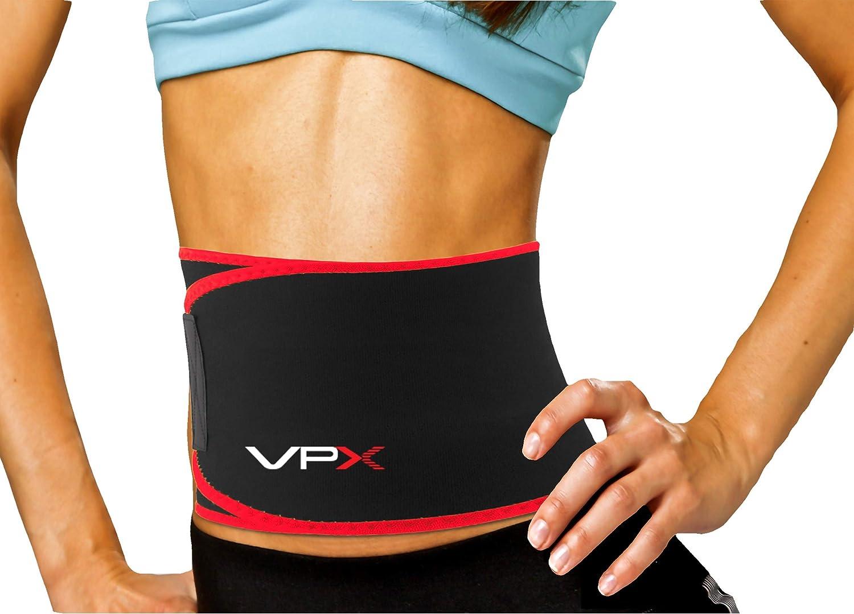 Details about  /US Fat Burner Sweat Waist Trainer Slimming Trimmer Belt Weight Loss Sauna Shaper
