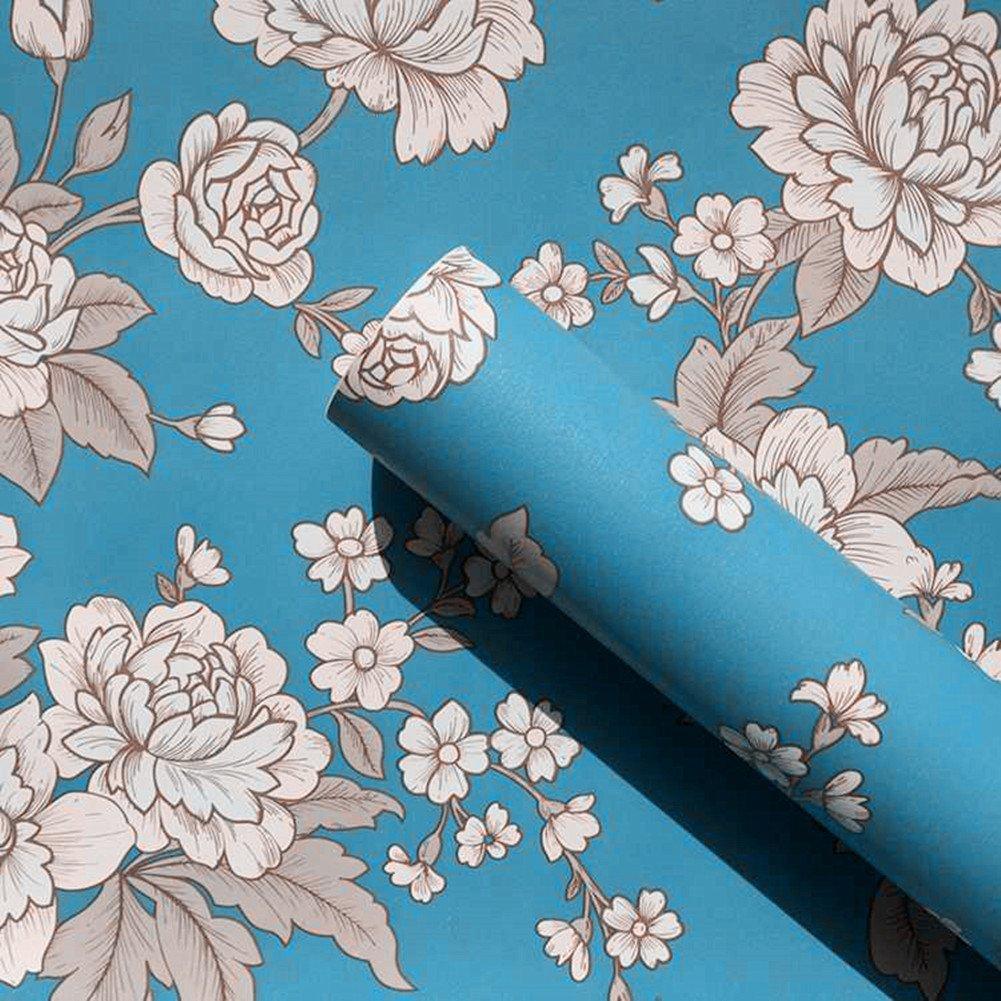 Amazon.com - Retro Peony Decorative Contact Paper Floral Self ...