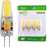 Liqoo® 4 x Ampoule LED G4 2 W COB AC DC 12V Bulb Lumière Blanc Froid 6000K Lampe Spot light High Power Angle de Faisceau 260° 220LM Equivalent à Halogène 20W