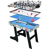 hj 4 en 1 Mesa de multijuegos,futbolin,Mesa Billar,Pingpong, Hockey: Amazon.es: Juguetes y juegos