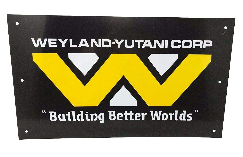 Super6props Aliens Weyland Yutani Corporation Signe de Hadleys Hope Construction dun Monde imprim/é sur Une Plaque en Aluminium de 430 mm x 250 mm