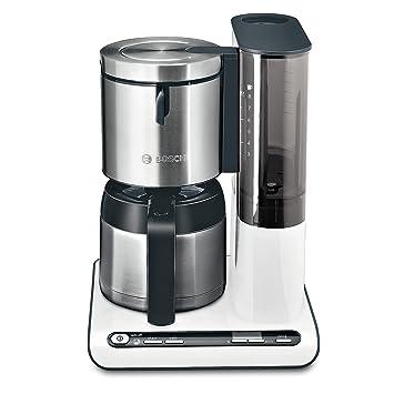 Bosch TKA8651 - Máquina de café, 1100 W, capacidad para 8/12 tazas, color blanco y gris: Amazon.es: Hogar