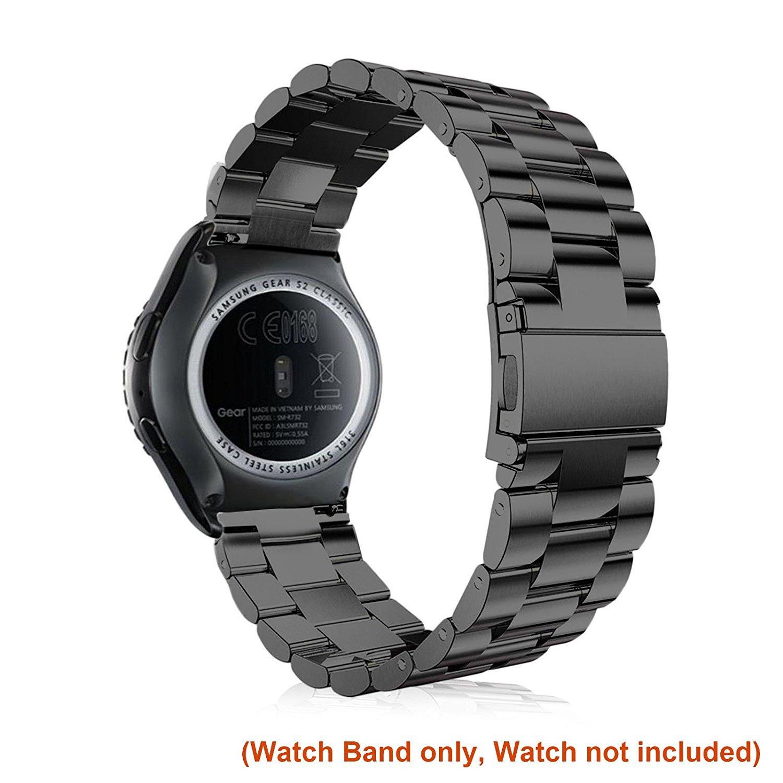 FOTOWELT pour Samsung Gear S2 Bracelet de Montre Classique, Bracelet en Acier Inoxydable Link Bracelet avec Pinsfor Samsung Gear S2 Montre Classique ...