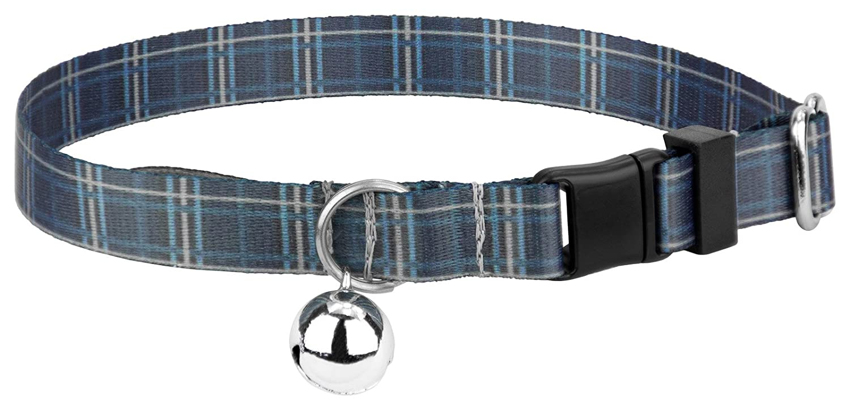 Country Brook Petz Navy Plaid Featherweight Cat Collar