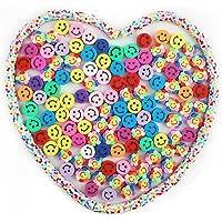 SAVITA 200st Smile Handgemaakte Kralen met Kleur Pakking Gemengde Kleuren Smile Polymeer Klei Kralen Polymeer Klei…