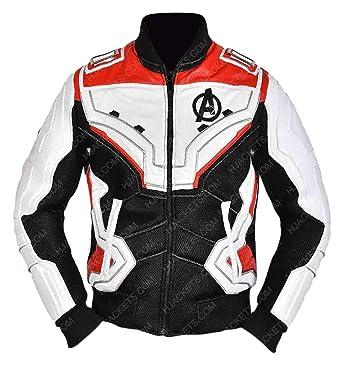 4a7e476a864 Amazon.com  Endgame Quantum Realm Superheroes Leather Jackets Collection Men  Women Costume  Clothing