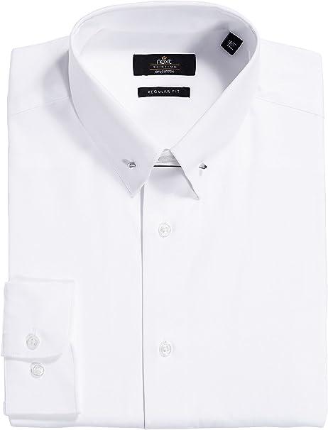 next Hombre Camisa Cuello Alfiler Corte Regular Puño Simple ...