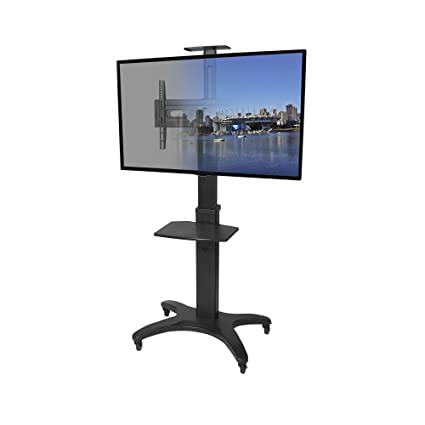 Amazoncom Kanto Mtma55pl Mobile Tv Stand For 32 55 Inch Flat