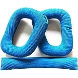 Pixnor un paio di ricambio morbida schiuma pastiglie orecchio cuscini uno archetto cuscino cuscinetto auricolare per Logitech G430 G930 cuffie (blu)