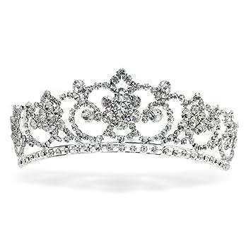 amazon com sparkly bride wedding tiara princess crown rhinestone