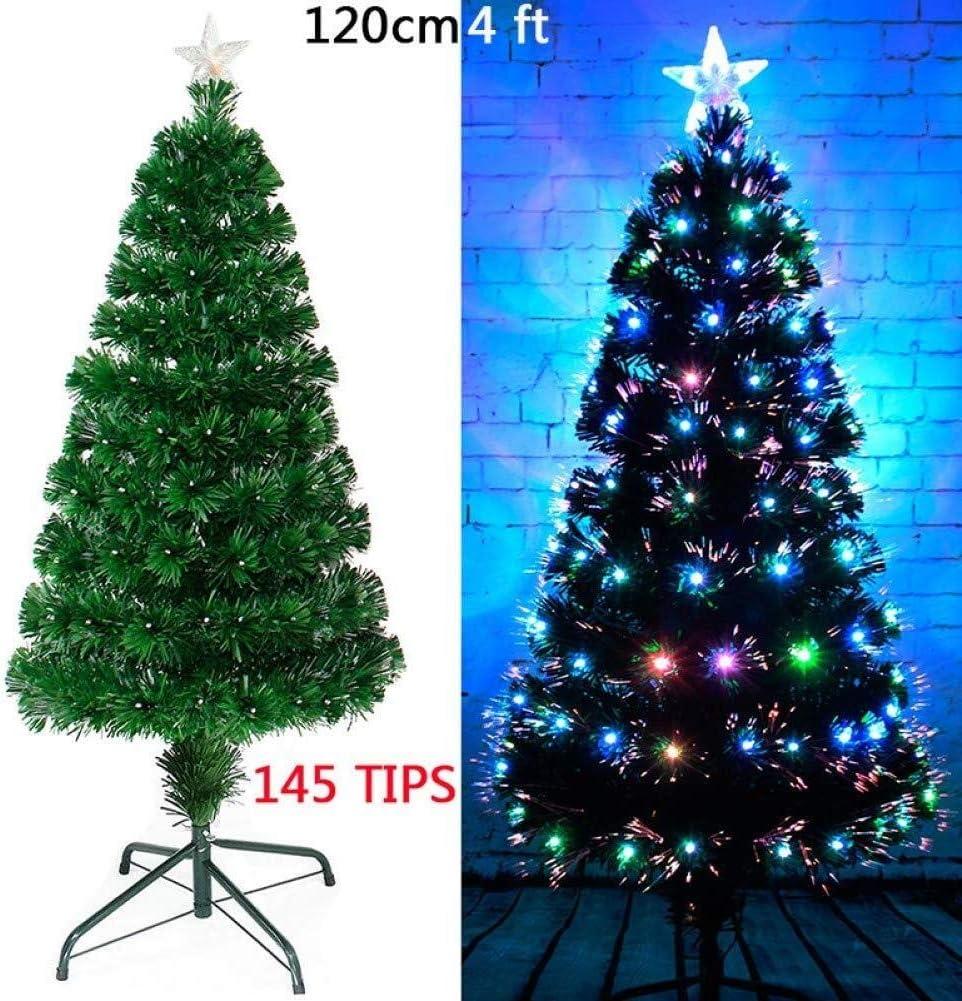 RENKUNDE 伝統的な人工的なクリスマスツリーの色緑の木フラッシュクリスマスプレゼント、クリスマスの飾り 装飾アイテム (Color : 120cm)