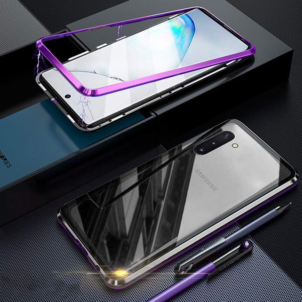 Funda para Samsung Galaxy S10 Plus//S10 Magnetica Adsorption Carcasa 360 Grados Anti Choque Marco de Metal Cover Case Transparente Vidrio Templado Protecci/ón para Samsung Galaxy S10 Plus Negro