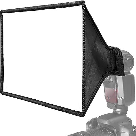 صندوق ناشر ضوء فلاش الكاميرا سوفت بوكس 13 × 8 انش من كايجتال (تصميم عالمي قابل للطي مع حقيبة تخزين) لكاميرا كانون ويونجنو ونيكون سبيد لايت