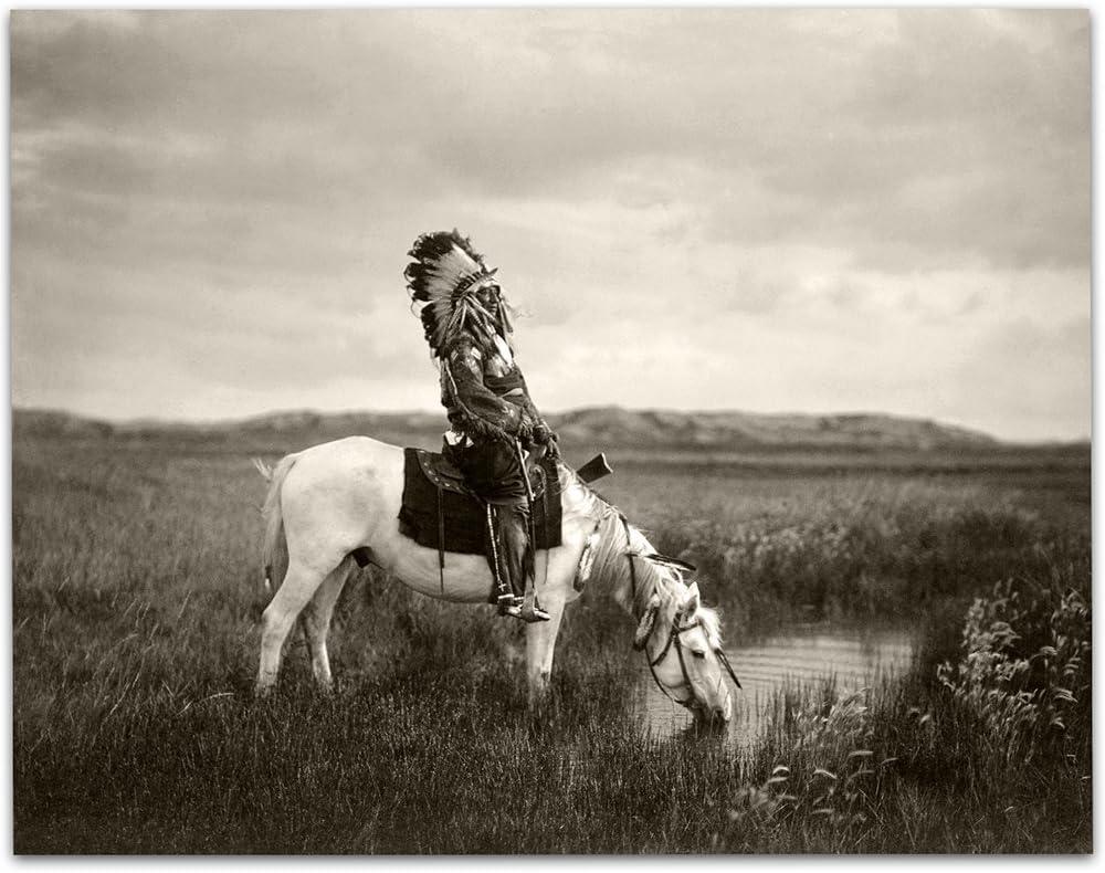 Oglala Native American Indian Photograph - 11x14 Unframed Art Print - Great Home Decor Under $15