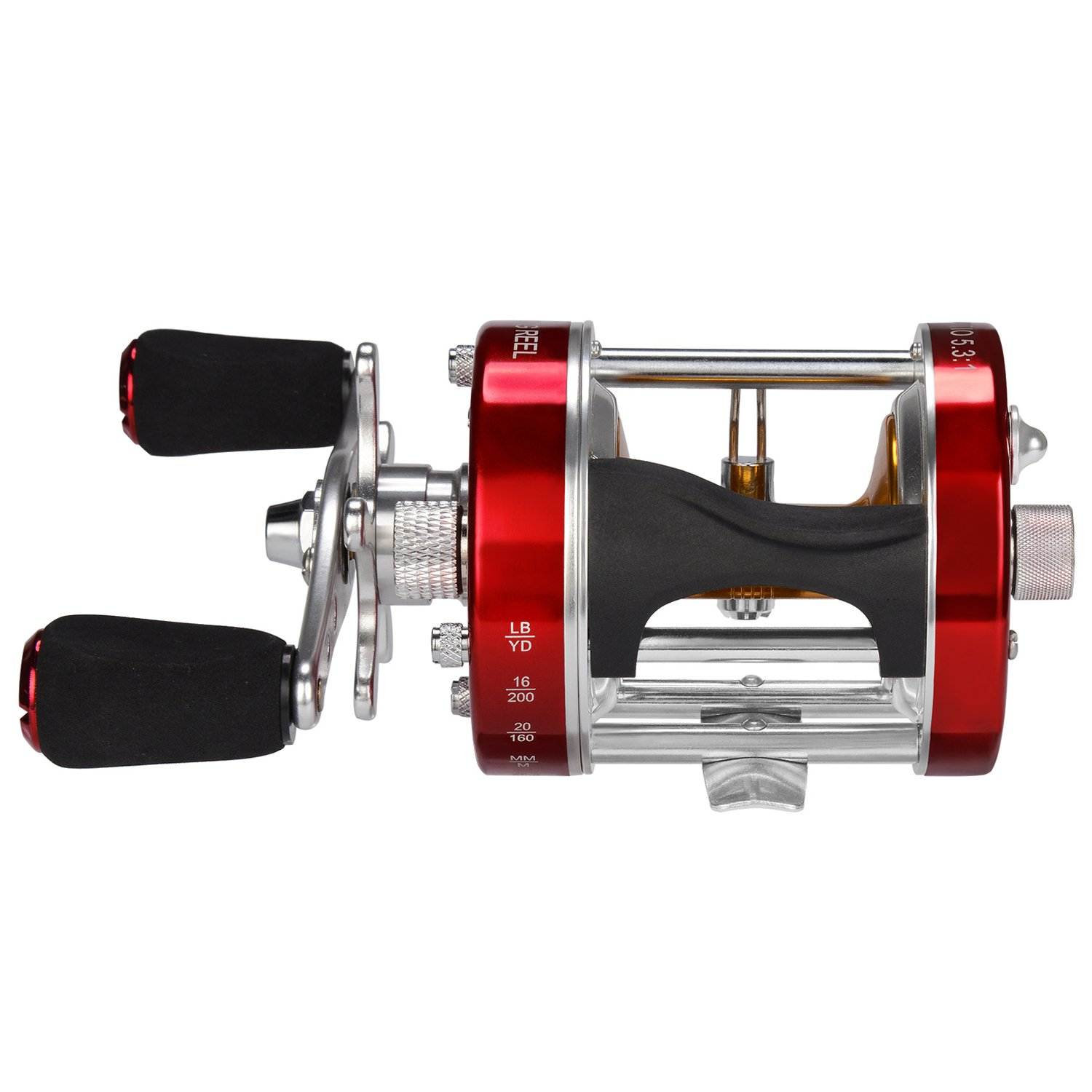 KastKing Rover Round Baitcasting Reel - No. 1 Rated Conventional Reel - Carbon Fiber Star Drag - Reinforced Metal Body by KastKing (Image #2)