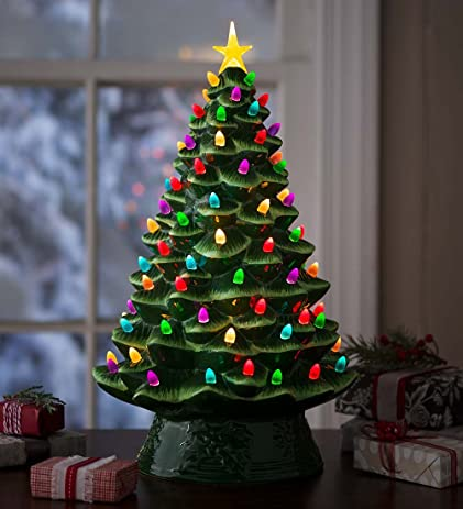 lighted ceramic christmas tree battery operated 105 l x 105 w x 175