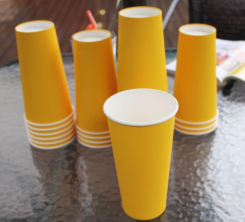 Hot bicchieri di carta Blue 25 Count 567/gram colori multipli