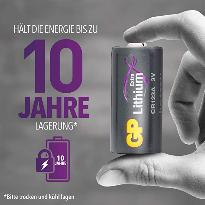 Gp Batteries Cr123a 3v Lithium Extra Series For Smart Elektronik