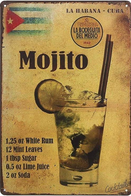 Bar//Pub Novelty Gift Retro Metal Plaque//Sign Man Cave Champagne